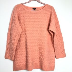 Talbots Cable Knit Sweater Women's 1X Peach